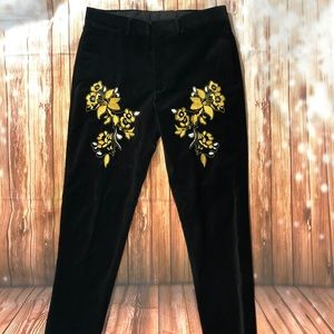 ASOS Velour Embroidered Pant - NWOT